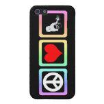 gato del amor de la paz iPhone 5 protector