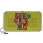Gato del amor de la paz portátil altavoz