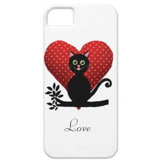 gato del amor iPhone 5 funda