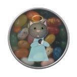 Gato del ángel jarrones de caramelos