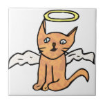 Gato del ángel tejas  ceramicas