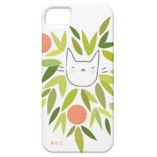 Gato del árbol anaranjado iPhone 5 funda