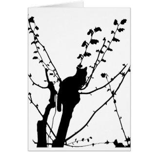 Gato del árbol tarjeta de felicitación