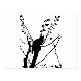 Gato del árbol tarjeta postal