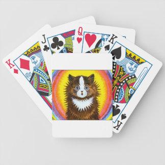 Gato del arco iris barajas de cartas