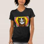 Gato del arco iris camisetas