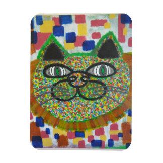 Gato del arco iris con el imán de la melena del