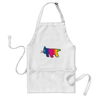 Gato del arco iris delantales