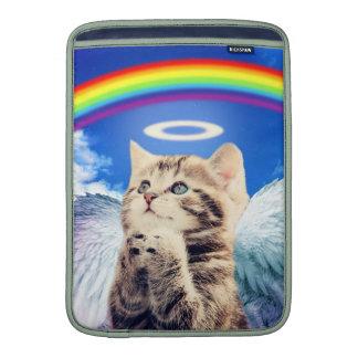 gato del arco iris fundas para macbook air