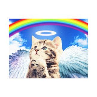 gato del arco iris impresiones en lona