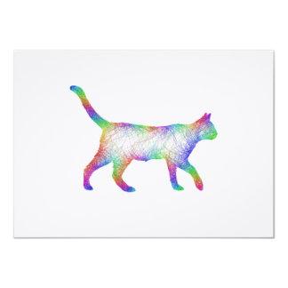 """Gato del arco iris invitación 4.5"""" x 6.25"""""""