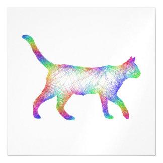 Gato del arco iris invitaciones magnéticas