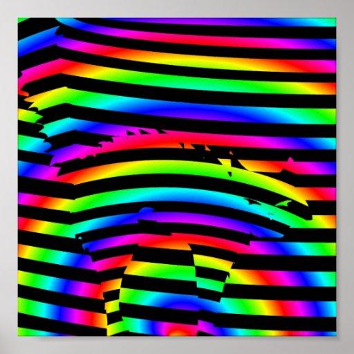Gato del arco iris poster