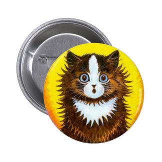 Gato del arco iris pin redondo 5 cm