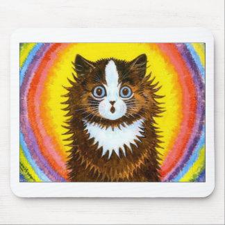 Gato del arco iris tapete de raton