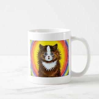 Gato del arco iris tazas de café