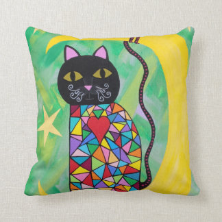 Gato del arte de la almohada de Kerri Ambrosino en Cojín Decorativo