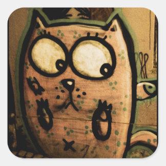 Gato del arte de la calle