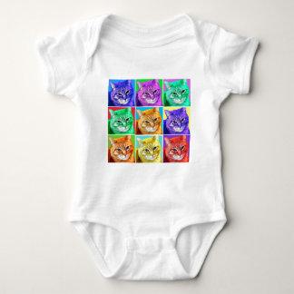 Gato del arte pop body para bebé