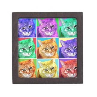 Gato del arte pop caja de regalo de calidad