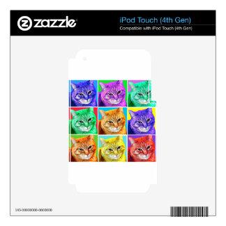 Gato del arte pop calcomanía para iPod touch 4G