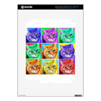 Gato del arte pop pegatinas skins para iPad 3