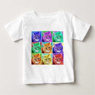 Gato del arte pop playeras