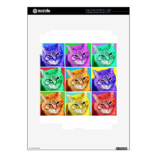 Gato del arte pop skins para iPad 2