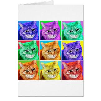 Gato del arte pop tarjeta de felicitación