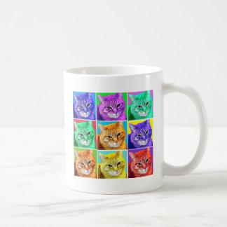 Gato del arte pop taza clásica
