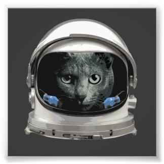 Gato del astronauta del casco de espacio cojinete