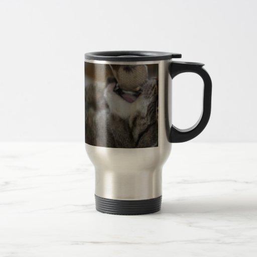 Gato del ataque taza de viaje de acero inoxidable