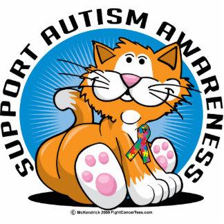 Gato del autismo fotoescultura vertical