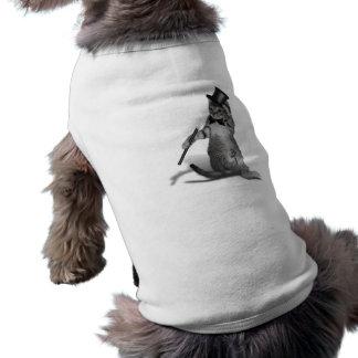Gato del baile de golpecito playera sin mangas para perro