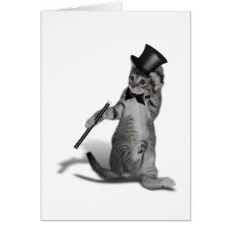 Gato del baile de golpecito tarjeta de felicitación
