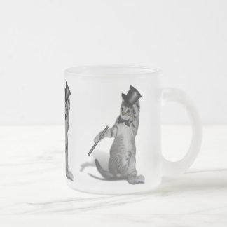 Gato del baile de golpecito taza cristal mate