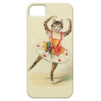 Gato del baile del vintage funda para iPhone 5 barely there