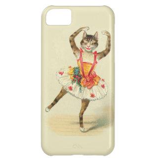 Gato del baile del vintage funda para iPhone 5C