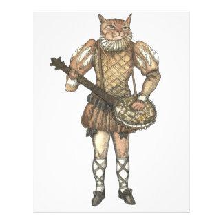 Gato del banjo membrete