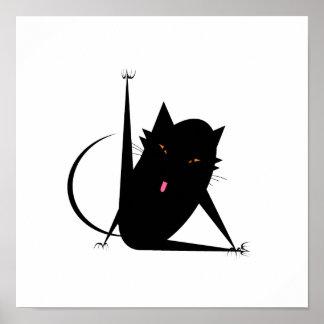 Gato del baño póster