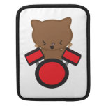 Gato del batería de Kawaii Fundas Para iPads
