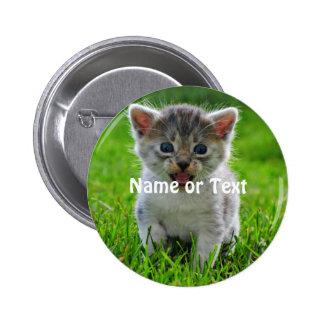 Gato del bebé chapa redonda 5 cm