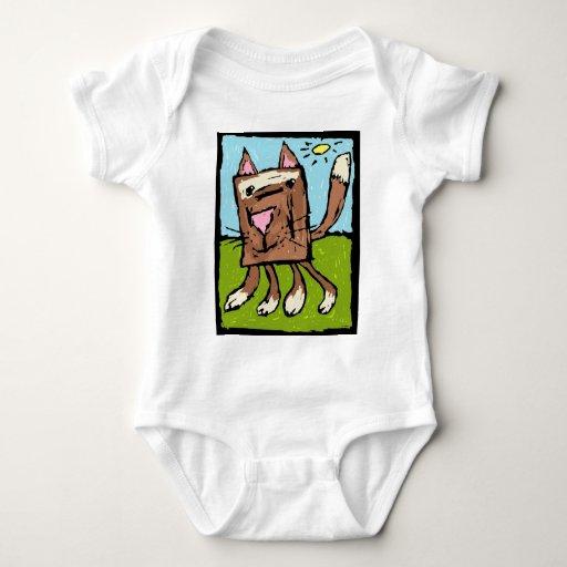 Gato del bebé poleras