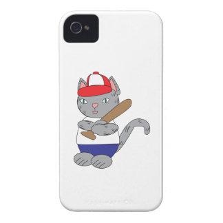 Gato del béisbol iPhone 4 protectores