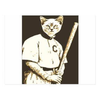 Gato del béisbol tarjetas postales