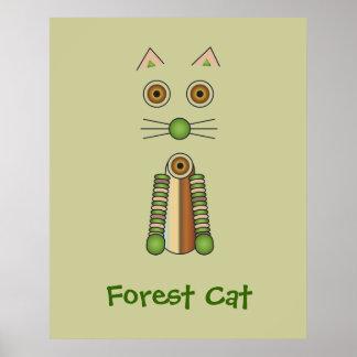 Gato del bosque posters