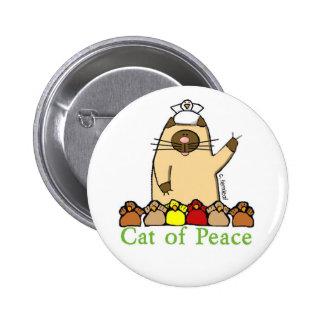 Gato del botón de la paz pins