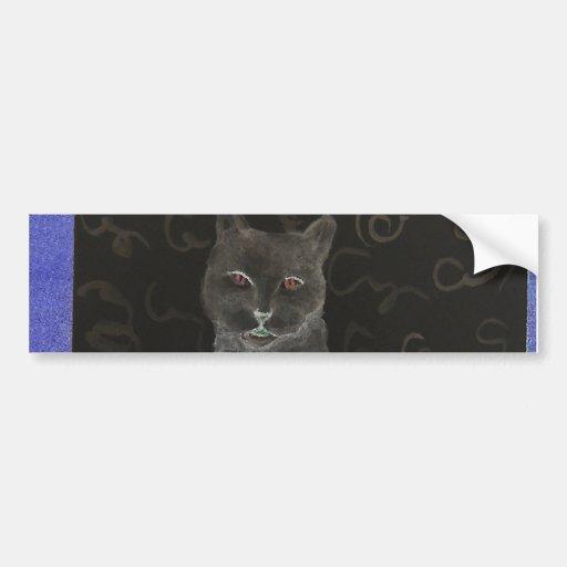 Gato del café - productos del gato del arte de Cri Pegatina Para Auto