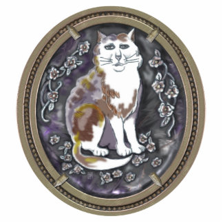 gato del camafeo de la ágata adorno fotoescultura