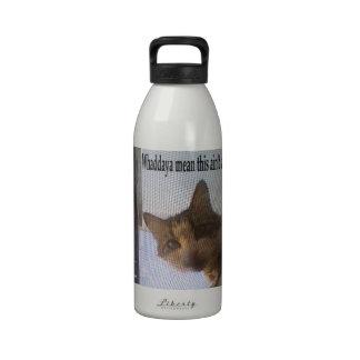 Gato del campista botella de beber